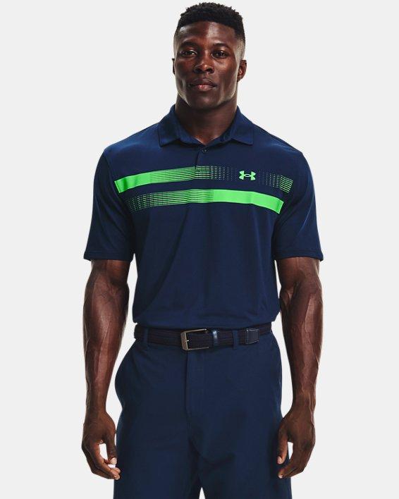 Men's UA Performance Polo Graphic, Navy, pdpMainDesktop image number 1