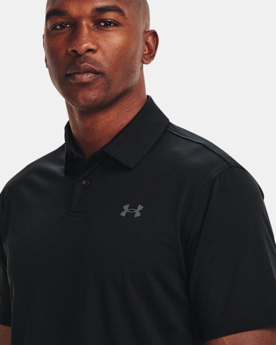 Men's UA T2G Polo, Black, pdpMainDesktop image number 3