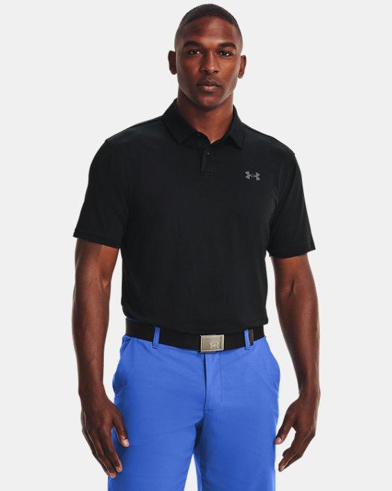 Men's UA T2G Polo, Black, pdpMainDesktop image number 0