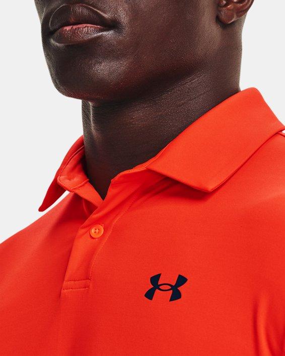 Men's UA T2G Polo, Orange, pdpMainDesktop image number 3