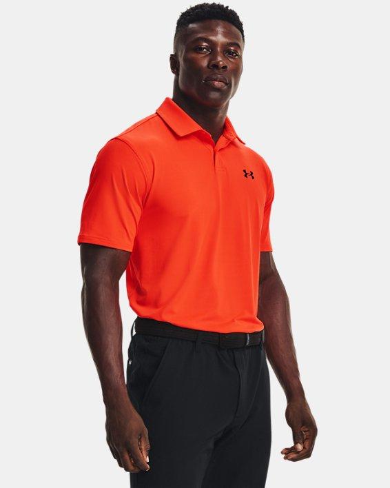 Men's UA T2G Polo, Orange, pdpMainDesktop image number 0