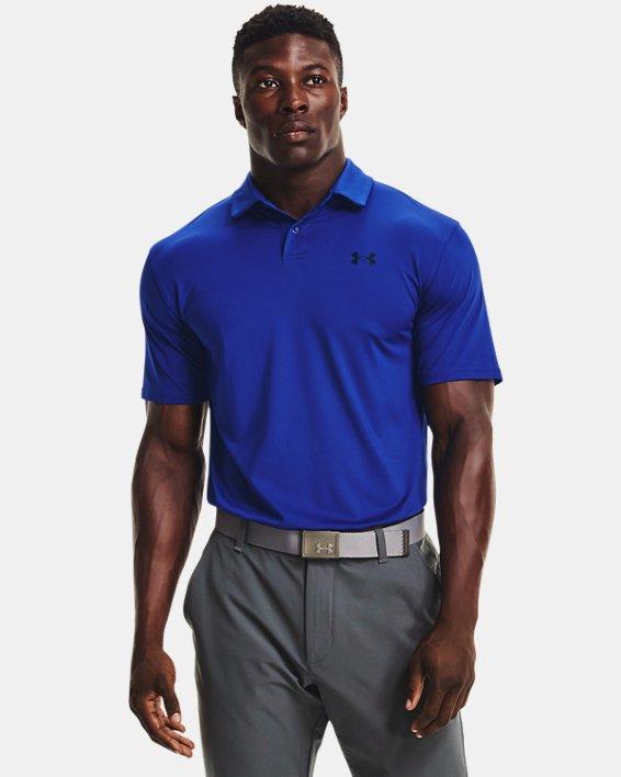 Herren UA T2G Poloshirt, Blue, pdpMainDesktop image number 0