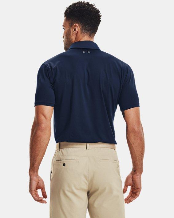 Men's UA T2G Polo, Navy, pdpMainDesktop image number 1
