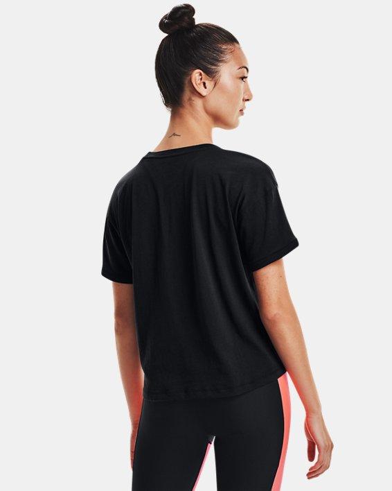 Women's UA Glow Graphic T-Shirt, Black, pdpMainDesktop image number 1