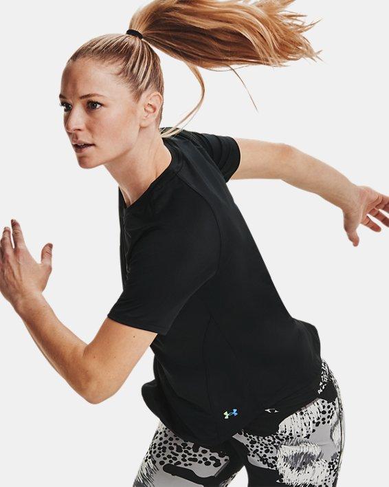 Women's UA RUSH™ Short Sleeve, Black, pdpMainDesktop image number 6