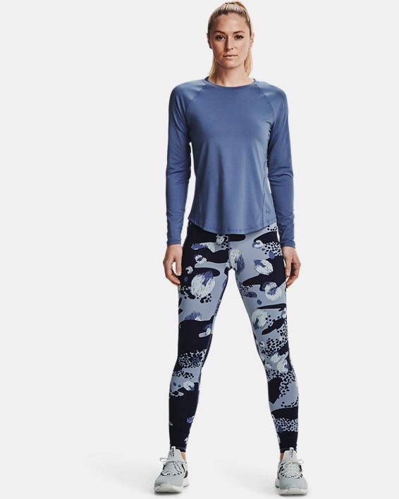 Women's UA RUSH™ Long Sleeve, Blue, pdpMainDesktop image number 0