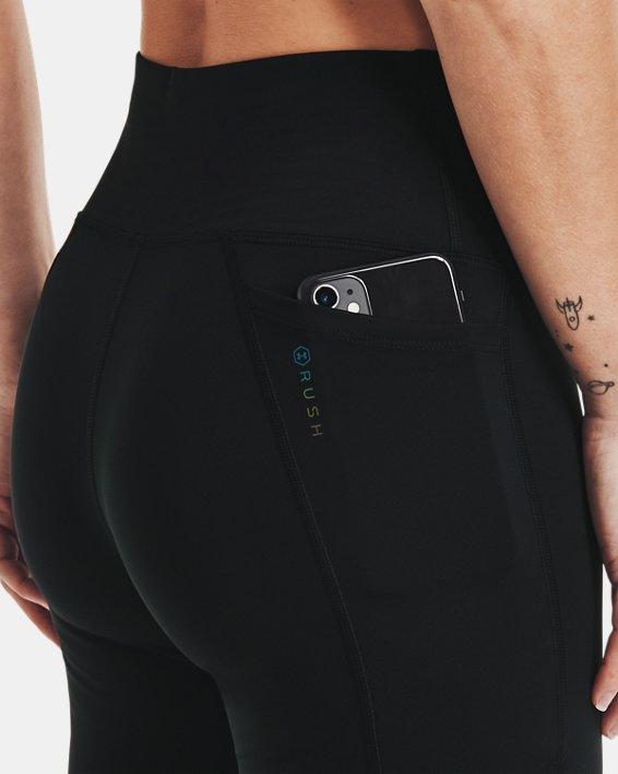 Women's UA RUSH™ No-Slip Waistband Full-Length Leggings, Black, pdpMainDesktop image number 3