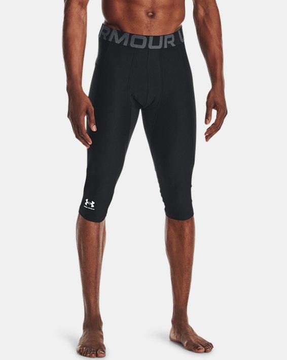 Men's HeatGear® Compression Knee Tights, Black, pdpMainDesktop image number 1