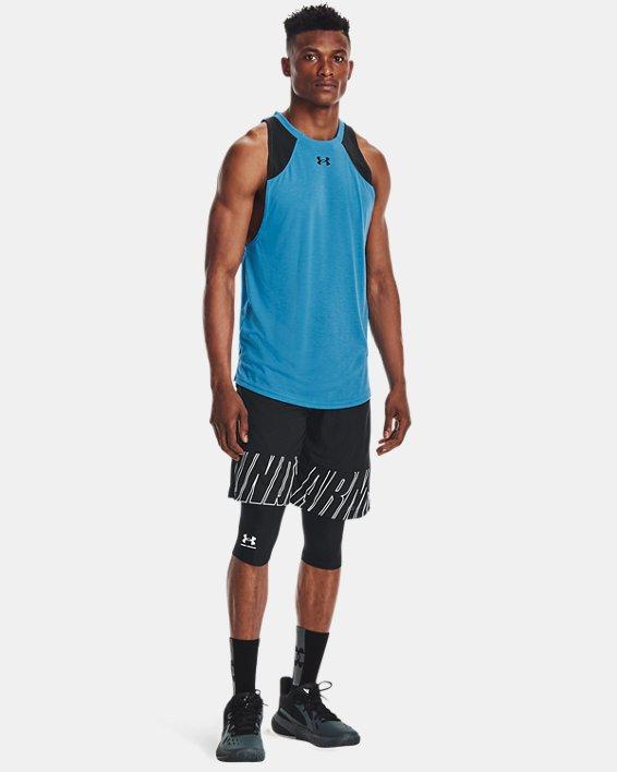 Men's HeatGear® Compression Knee Tights, Black, pdpMainDesktop image number 0