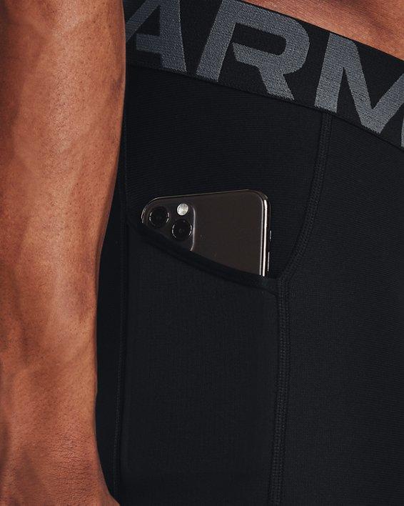 Men's HeatGear® Compression Knee Tights, Black, pdpMainDesktop image number 3