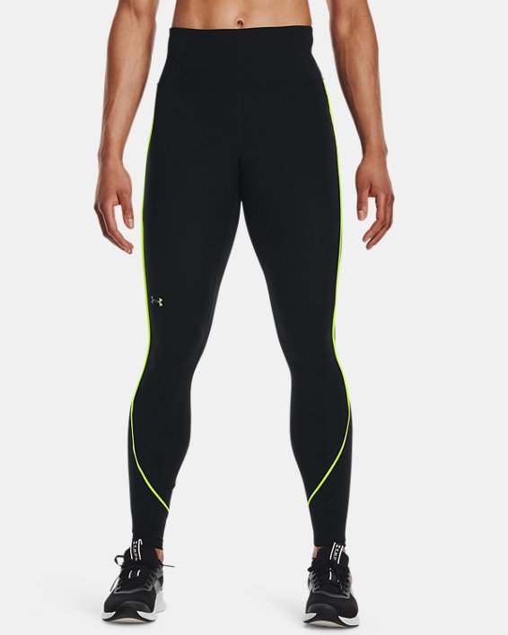 Women's UA RUSH™ HeatGear® No-Slip Waistband Mesh Pocket Full-Length Leggings, Black, pdpMainDesktop image number 0