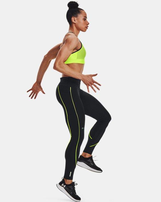 Women's UA RUSH™ HeatGear® No-Slip Waistband Mesh Pocket Full-Length Leggings, Black, pdpMainDesktop image number 3