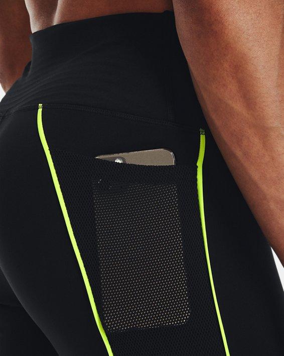 Women's UA RUSH™ HeatGear® No-Slip Waistband Mesh Pocket Full-Length Leggings, Black, pdpMainDesktop image number 4
