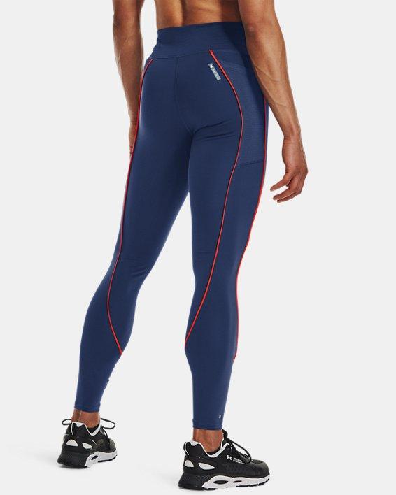 Women's UA RUSH™ HeatGear® No-Slip Waistband Mesh Pocket Full-Length Leggings, Blue, pdpMainDesktop image number 1