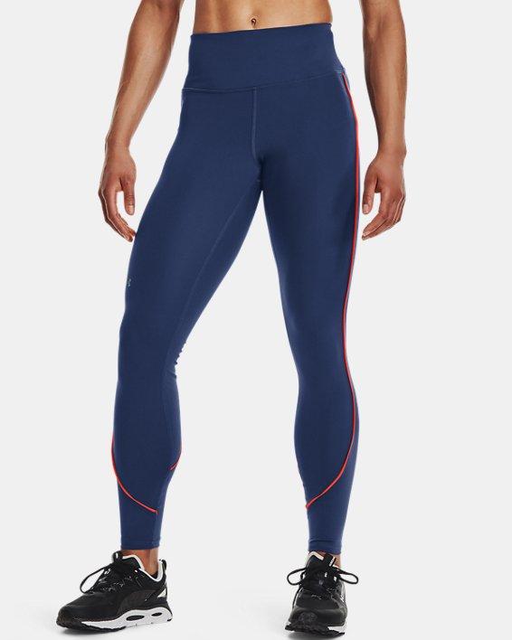 Women's UA RUSH™ HeatGear® No-Slip Waistband Mesh Pocket Full-Length Leggings, Blue, pdpMainDesktop image number 0