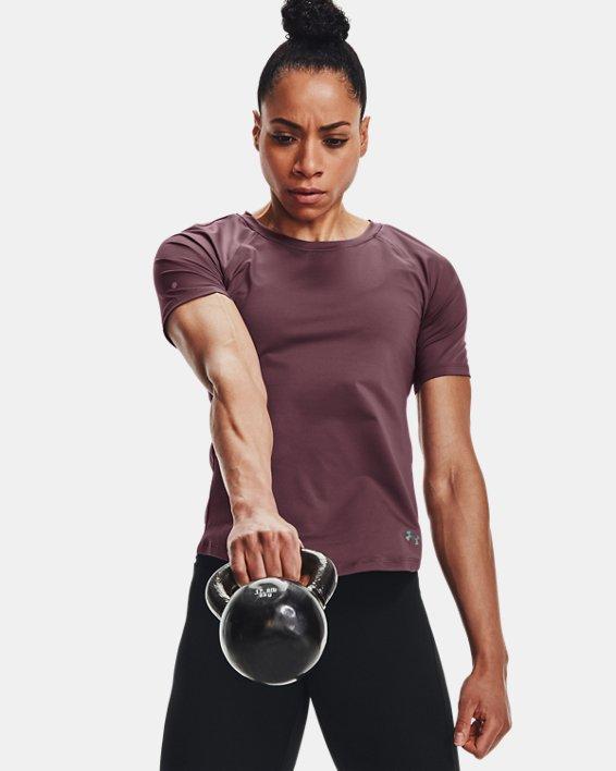 Camiseta de manga corta UA RUSH™ Mesh para mujer, Purple, pdpMainDesktop image number 6