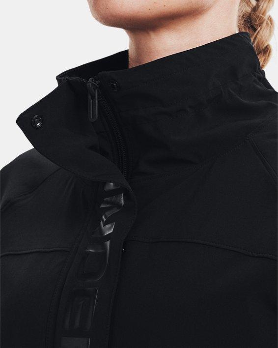 Women's UA RUSH™ Woven Full-Zip Jacket, Black, pdpMainDesktop image number 6