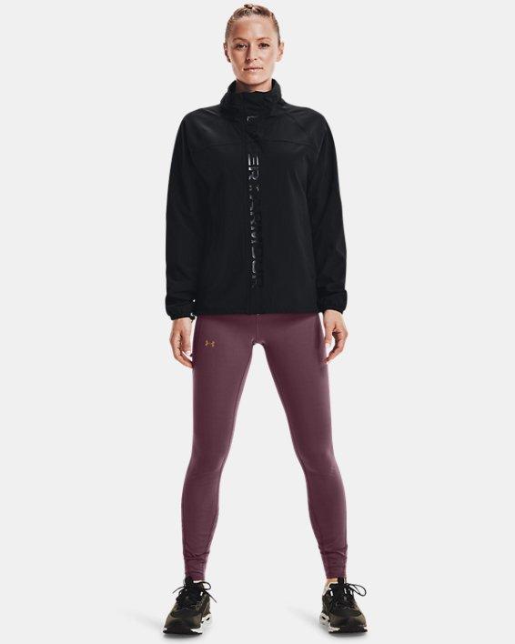Women's UA RUSH™ Woven Full-Zip Jacket, Black, pdpMainDesktop image number 0