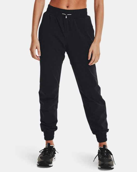 Women's UA RUSH™ Woven Pants, Black, pdpMainDesktop image number 0