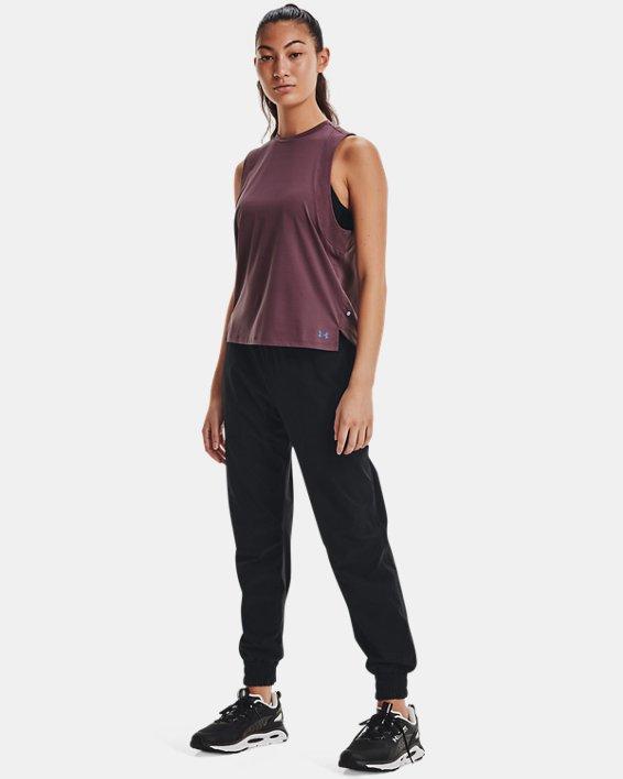 Women's UA RUSH™ Woven Pants, Black, pdpMainDesktop image number 2