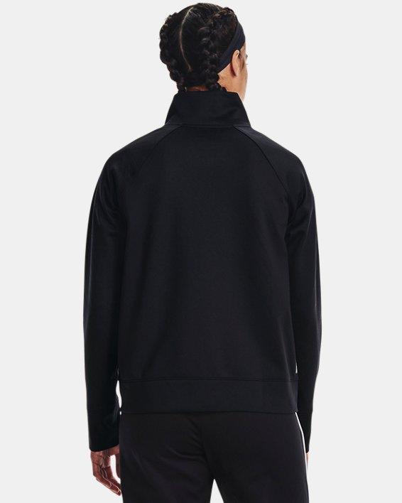Women's UA RUSH™ Tricot Jacket, Black, pdpMainDesktop image number 2