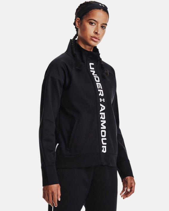 Women's UA RUSH™ Tricot Jacket, Black, pdpMainDesktop image number 1