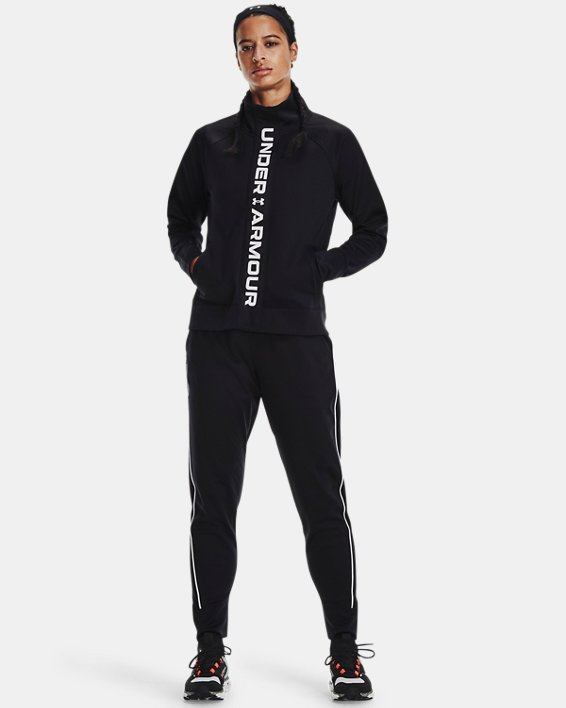 Women's UA RUSH™ Tricot Jacket, Black, pdpMainDesktop image number 0