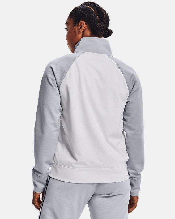 Women's UA RUSH™ Tricot Jacket, White, pdpMainDesktop image number 2