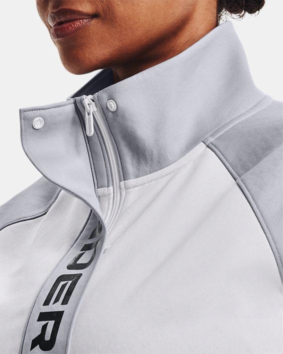Women's UA RUSH™ Tricot Jacket, White, pdpMainDesktop image number 6