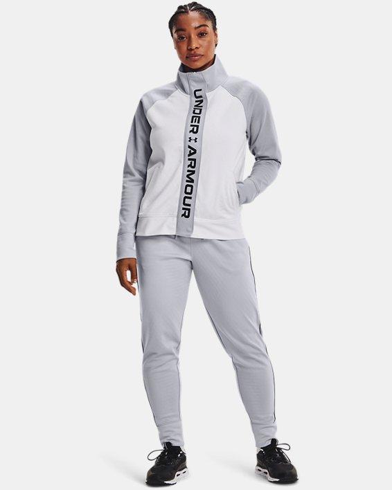 Women's UA RUSH™ Tricot Jacket, White, pdpMainDesktop image number 0