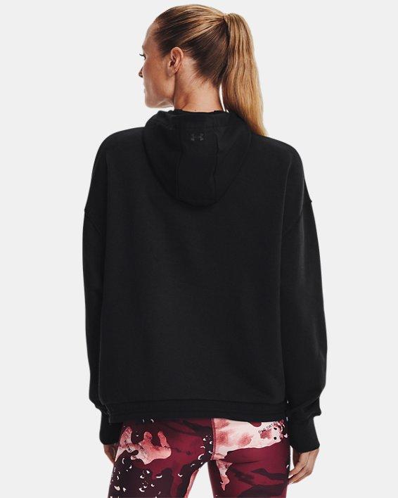 Women's Project Rock Fleece ¼ Zip, Black, pdpMainDesktop image number 1