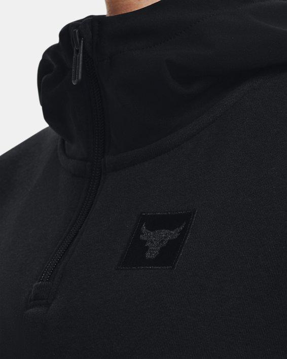 Women's Project Rock Fleece ¼ Zip, Black, pdpMainDesktop image number 3