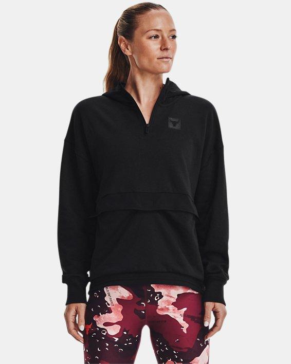 Women's Project Rock Fleece ¼ Zip, Black, pdpMainDesktop image number 0