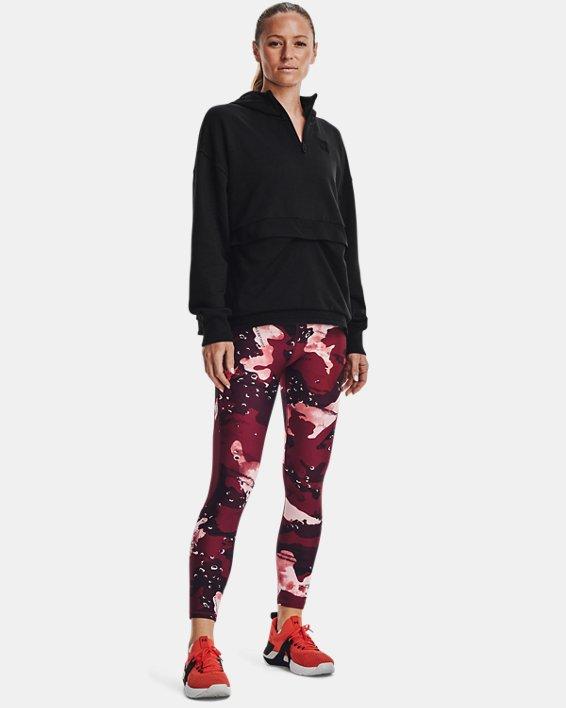 Women's Project Rock Fleece ¼ Zip, Black, pdpMainDesktop image number 2