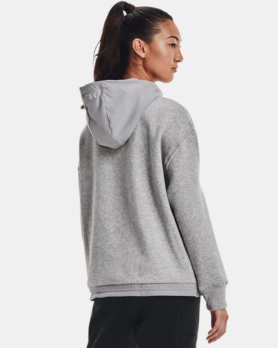 Women's Project Rock Fleece ¼ Zip, Gray, pdpMainDesktop image number 1