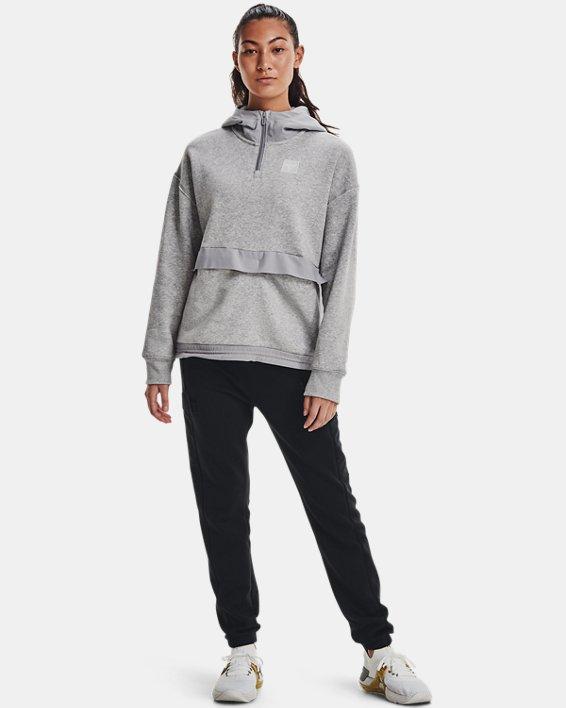 Women's Project Rock Fleece ¼ Zip, Gray, pdpMainDesktop image number 2
