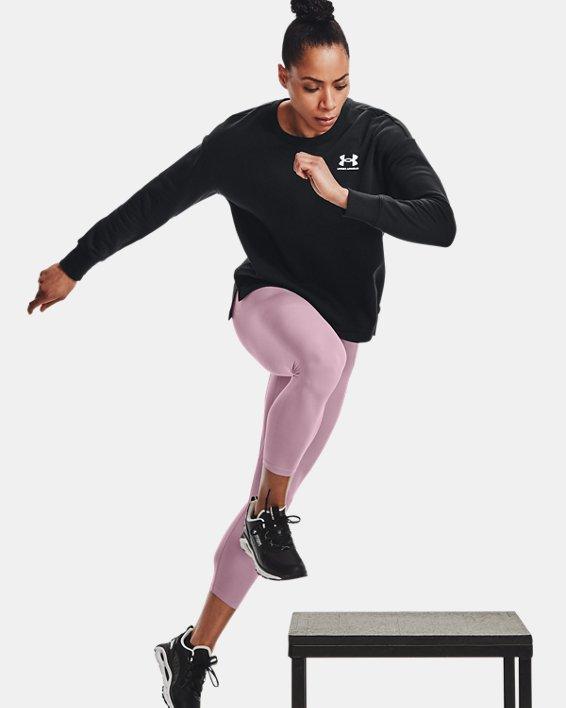 Women's UA Meridian Ankle Leggings, Pink, pdpMainDesktop image number 3