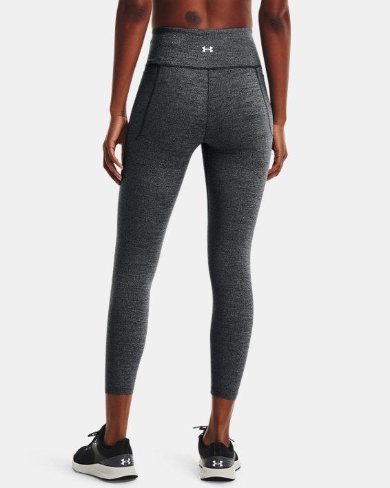 Women's UA Meridian Heather Ankle Leggings, Black, pdpMainDesktop image number 2