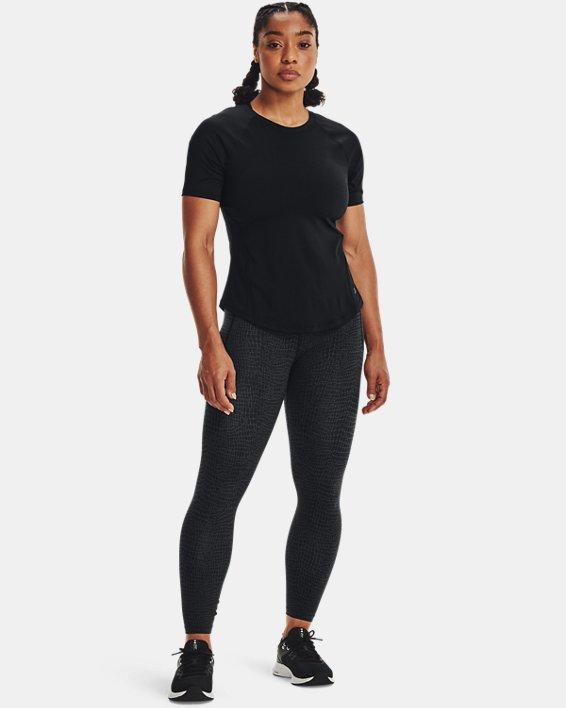 Women's UA Meridian Print Ankle Leggings, Black, pdpMainDesktop image number 0