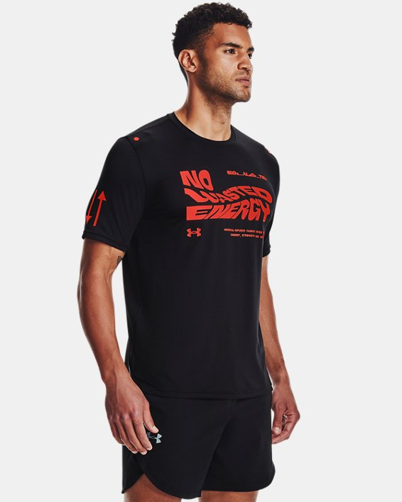 Men's UA RUSH™ No Energy Wasted Short Sleeve, Black, pdpMainDesktop image number 1