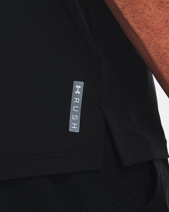 Men's UA RUSH™ No Energy Wasted Short Sleeve, Black, pdpMainDesktop image number 3