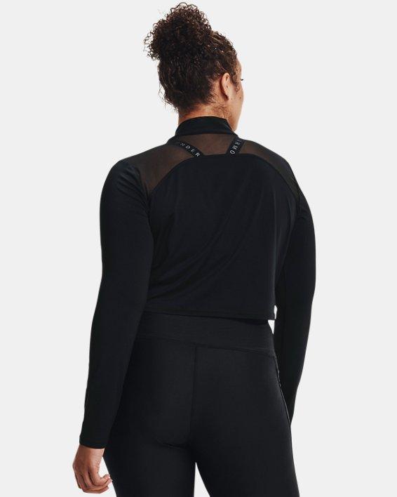 Camiseta corta con cuello alto HeatGear® para mujer, Black, pdpMainDesktop image number 1