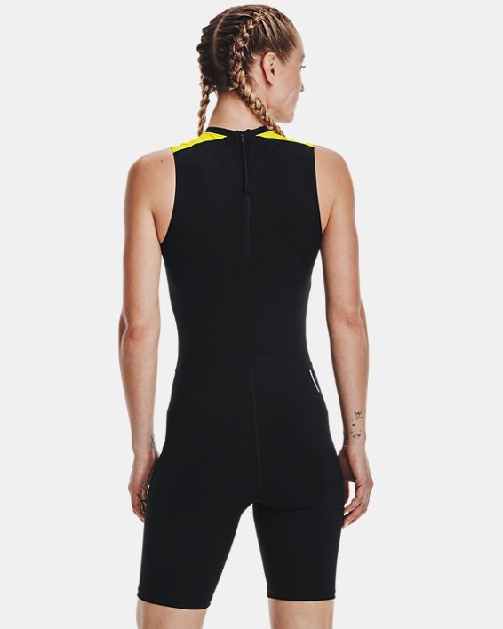 Women's UA RUSH™ HeatGear® 80's Pack Short Bodysuit, Black, pdpMainDesktop image number 1