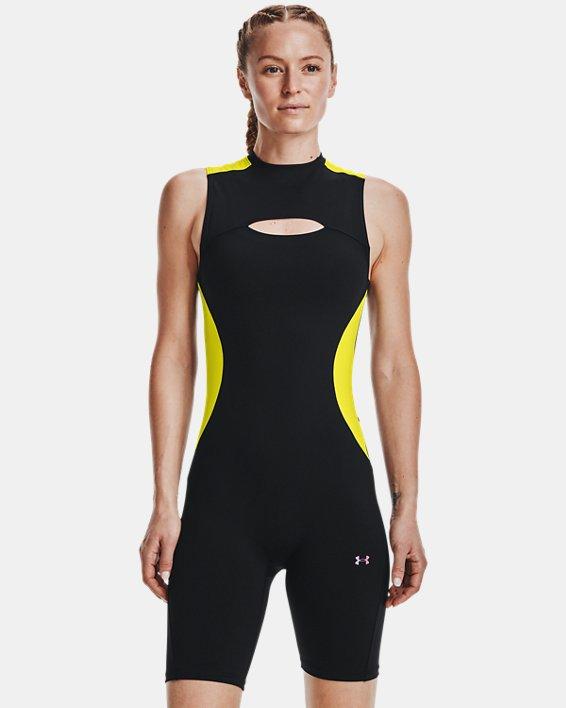 Women's UA RUSH™ HeatGear® 80's Pack Short Bodysuit, Black, pdpMainDesktop image number 0