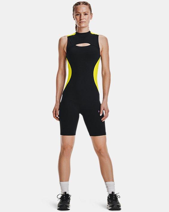 Women's UA RUSH™ HeatGear® 80's Pack Short Bodysuit, Black, pdpMainDesktop image number 2