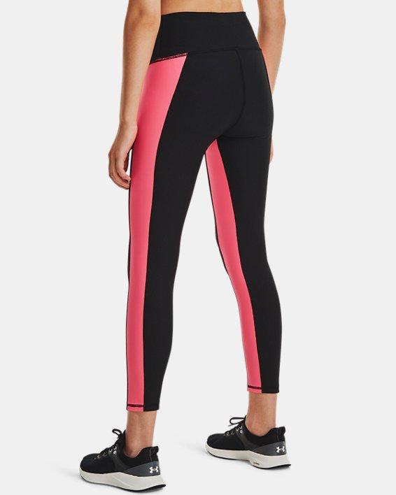Women's HeatGear® Armour No-Slip Waistband Panel Ankle Leggings, Black, pdpMainDesktop image number 2