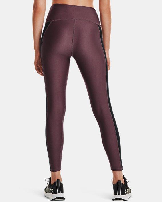Women's HeatGear® Armour No-Slip Waistband Panel Ankle Leggings, Purple, pdpMainDesktop image number 2