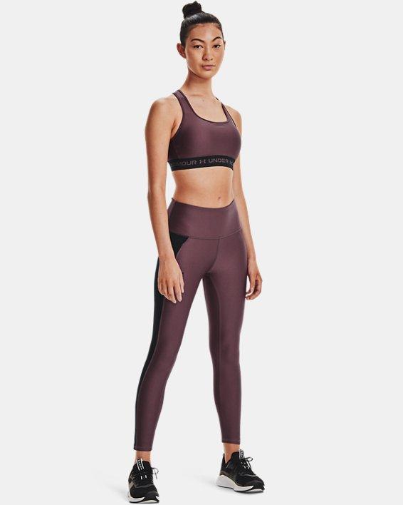 Women's HeatGear® Armour No-Slip Waistband Panel Ankle Leggings, Purple, pdpMainDesktop image number 0