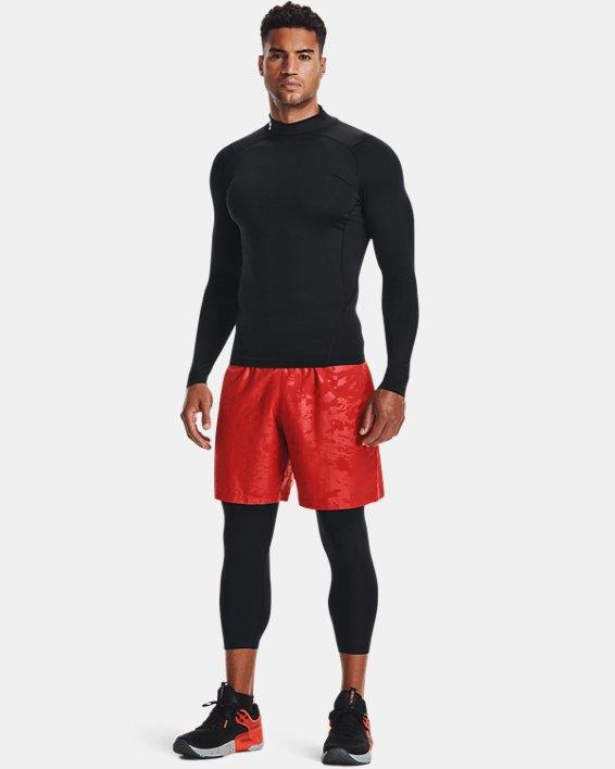 Men's HeatGear® Mock Long Sleeve, Black, pdpMainDesktop image number 2