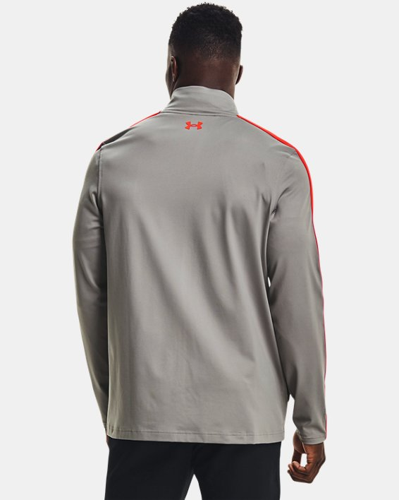 Men's UA Storm Midlayer Full-Zip Golf Jacket, Gray, pdpMainDesktop image number 1